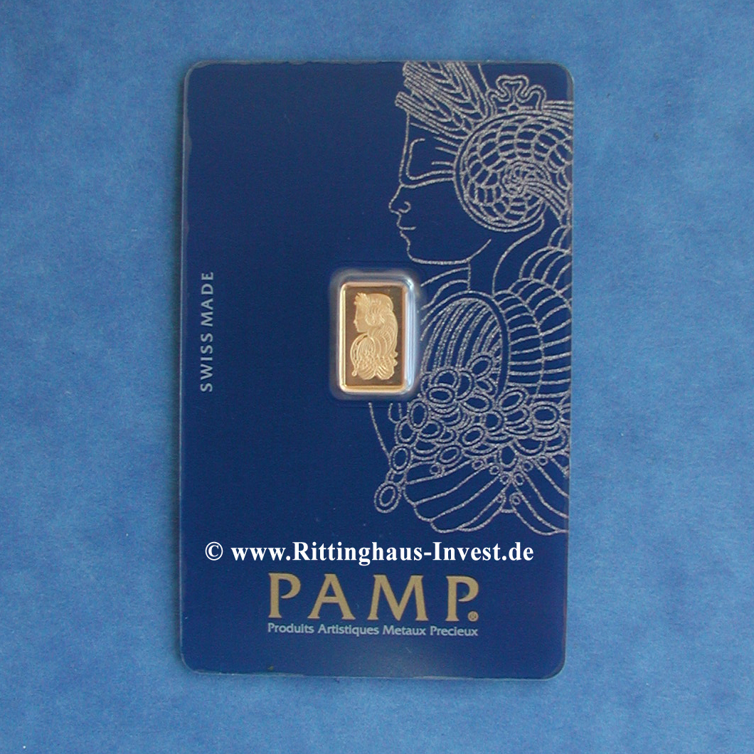 Gold Bar 1 Gram Pamp Suisse Fortuna 1 G 99 99 Fine Gold