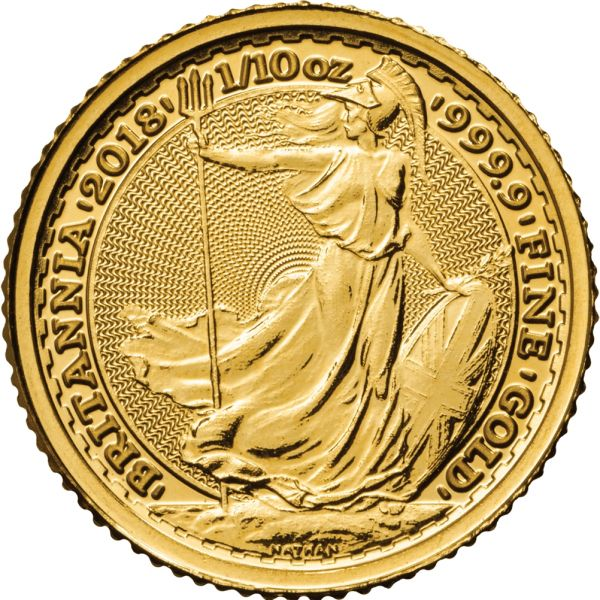 Goldmünze Britannia 1/10oz 2018 zentel Unze Gold coin tenth ounce