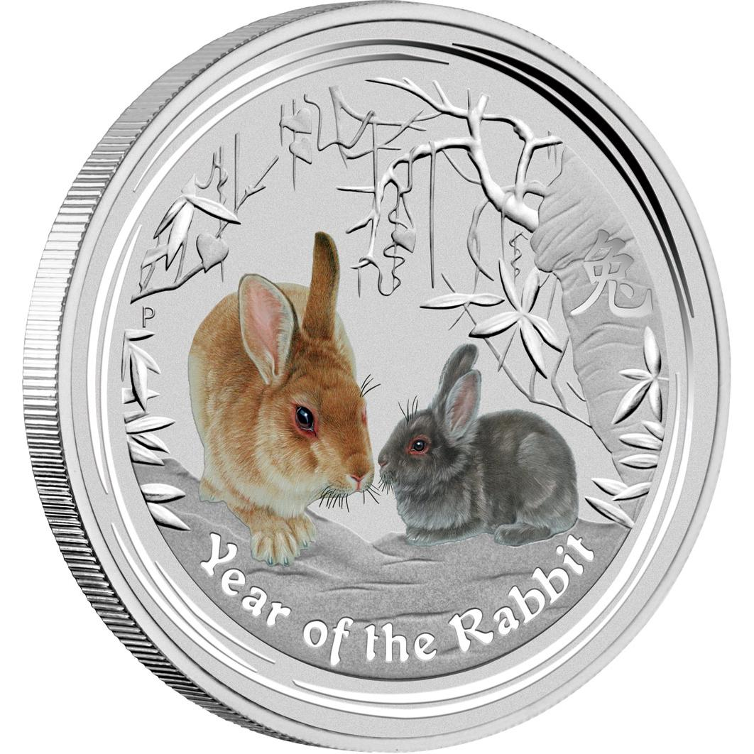 Lunar Ii Hase 2011 Coloriert Farbig Perth Mint Australien