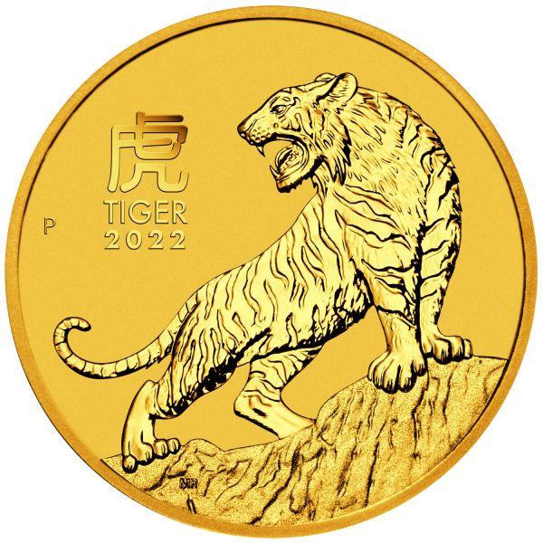 Lunar III Tiger 2022 1/10oz Gold zehntel Unze Goldmünze