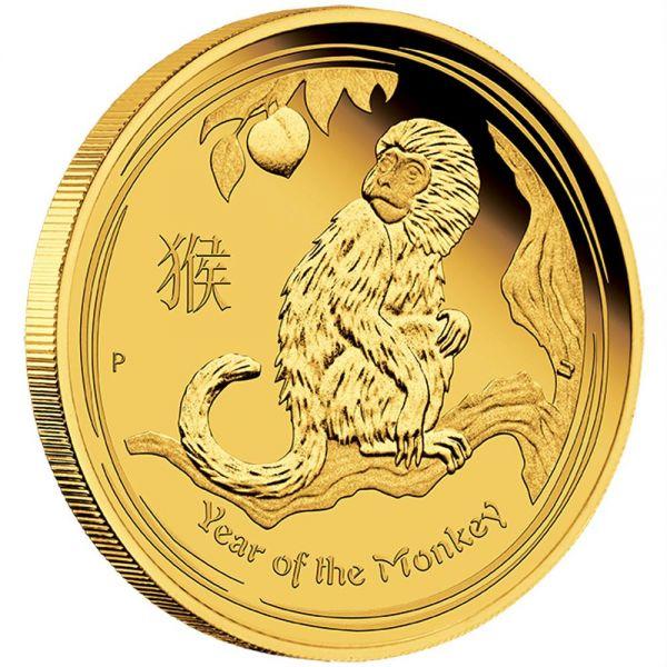 lunar affe proof polierte platte gold monkey