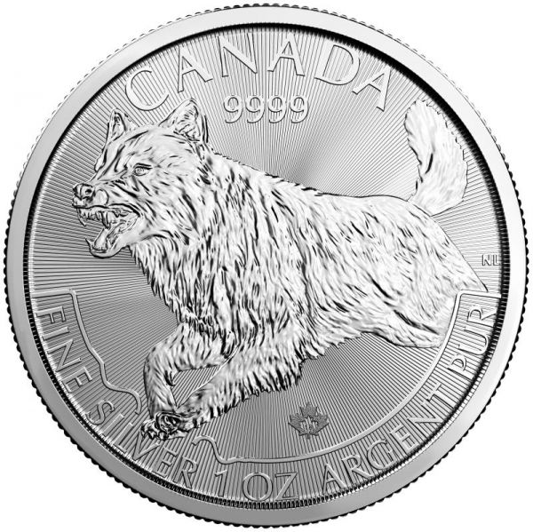 Silbermünze Kanada Wolf 2018 Wildlife Predator Series 1oz