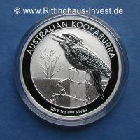 Silbermünze Australian Kookaburra 2016 1oz 1 Unze Silber silver 999