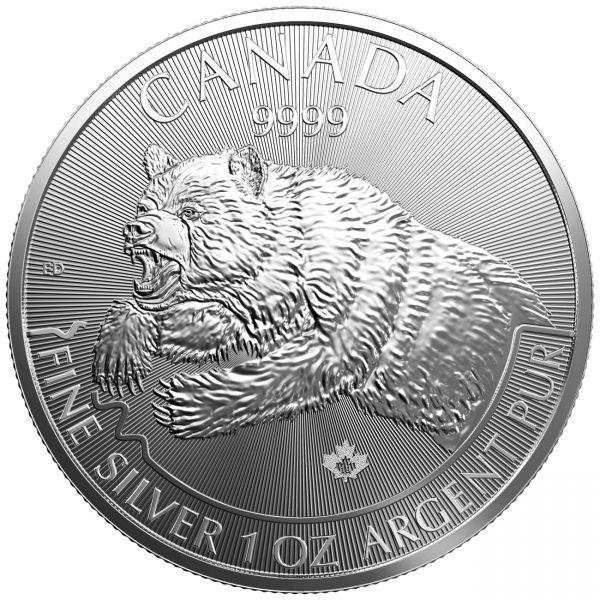 Silbermünze Grizzly Canada Wildlife 2019 1oz Silber silver coin