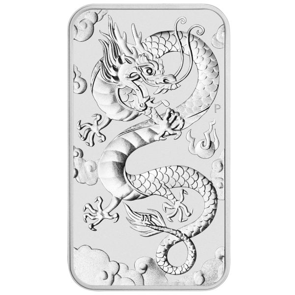 2019 Drache Silbermünzbarren rectangular dragon Perth Mint silver coin bar