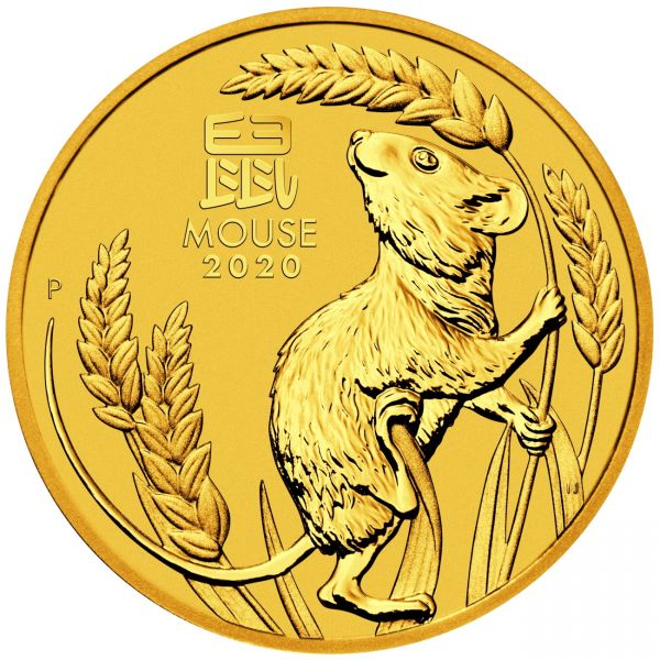 Goldmünze Lunar III Maus 1/4 oz Jahr der Maus 2020 Gold viertel Unze