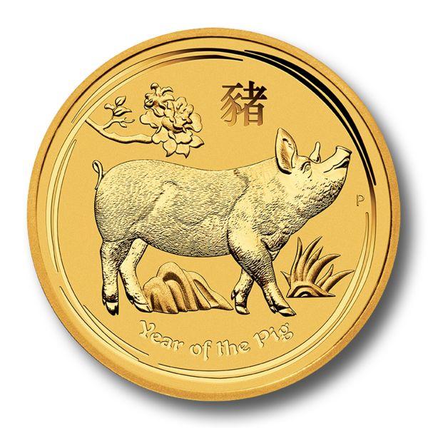 Goldm 252 Nze Lunar Ii Schwein 1 10 Oz Jahr Des Schwein 2019 Zehntel Unze