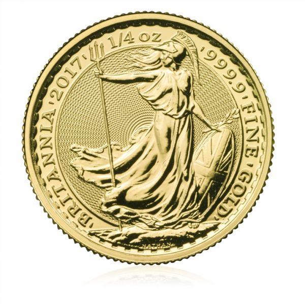 Goldmünze Britannia 1/4oz 2017 viertel Unze Gold