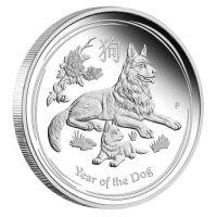Lunar Hund 2018 Silbermünze polierte Platte PROOF Lunar II