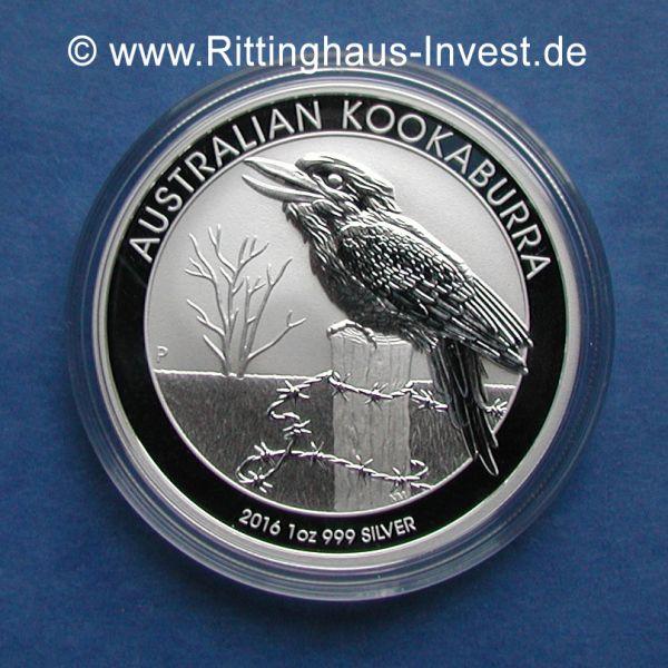 Silberm 252 Nze Kookaburra 1oz 999 Silber 2016 Silver Coin