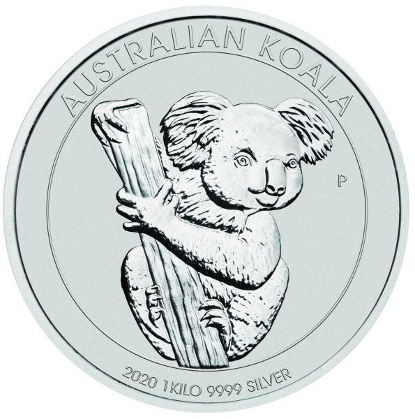2020 1kg Australian Koala Silbermünze Kilo silver coin