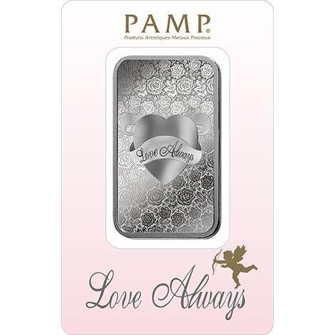 Pamp Suisse Love Always 1oz Silberbarren 1 Unze Silber silver