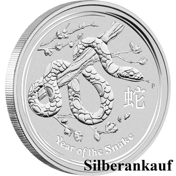 Silbermünze Ankauf Lunar II Jahr der Schlange 2013 1 Oz Silber Ankauf Snake