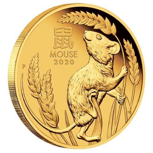 Lunar III Maus 2020 viertel Unze Goldmünze polierte Platte Proof PP Mouse Gold