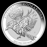 Silbermünze Australian Kookaburra 2018 1kg Silber