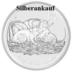 Ankauf Silbermünze Silbermünzenankauf Silber Bargeld Lunar II Maus 2008