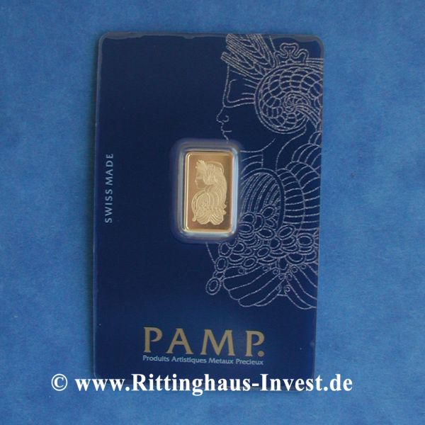 Pamp Suisse 2,5 g Goldbarren Blister 999.9 Gold