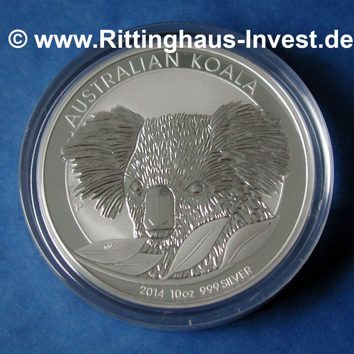 2014 Koala 10 Oz Silberm 252 Nze 999 Silber Silver Coin 10 Unzen