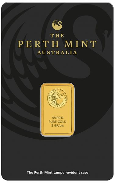 5g Goldbarren The Perth Mint Australia Kangaroo Blister Gold