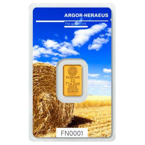 Following Nature Goldbarren 2g Sommer Edition Summer Argor Heraeus