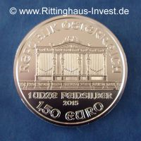 Wiener Philharmoniker 1 Unze Feinsilber 1,5 Euro 2015