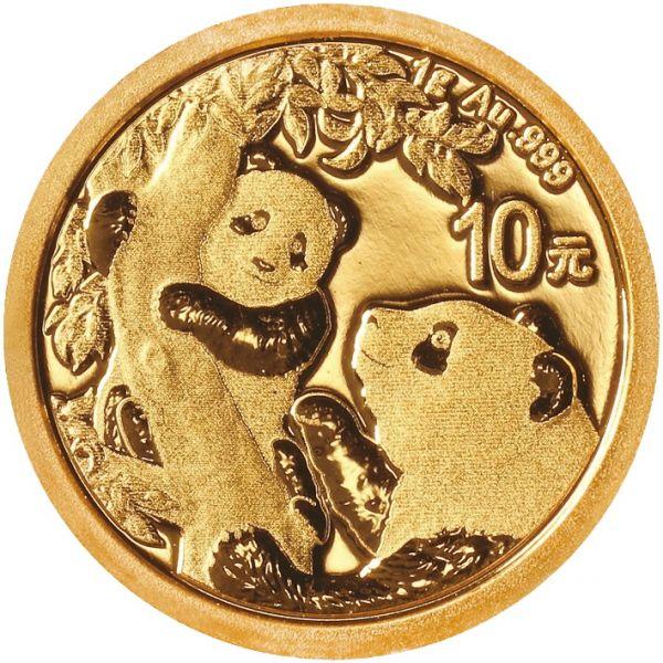 China Panda 2021 1g Gold