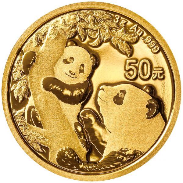 China Panda Gold 2021 50 Yuan 3g 999