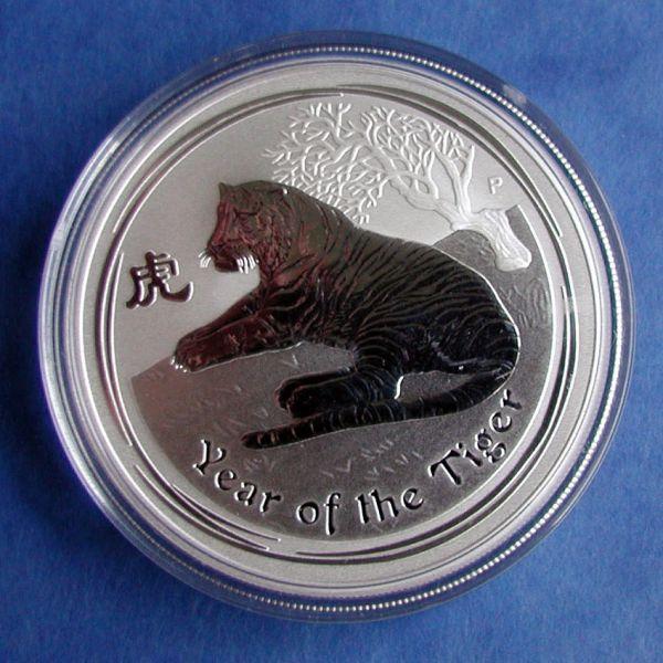 1kg Lunar II Tiger 2010 1000 g Silbermünze Silber