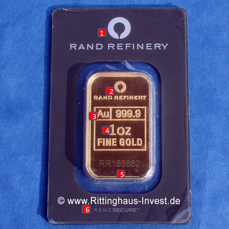 rand-refinery-elefanten-elephant-goldbarren-merkmale-vorderseite