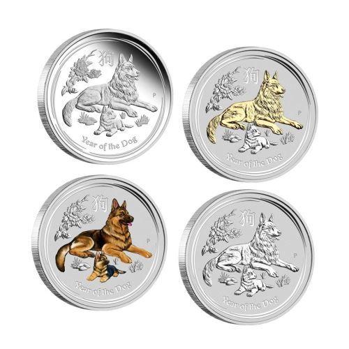 Silbermünzen Lunar II Hund 2018 Typeset Perth Mint Australia
