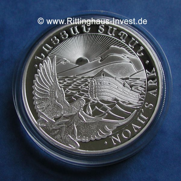 noah´s ark arche noah 5 Unzen silbermünze 5Oz silver coin