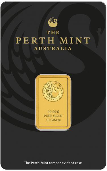 10g Goldbarren The Perth Mint Australia Kangaroo Blister Gold