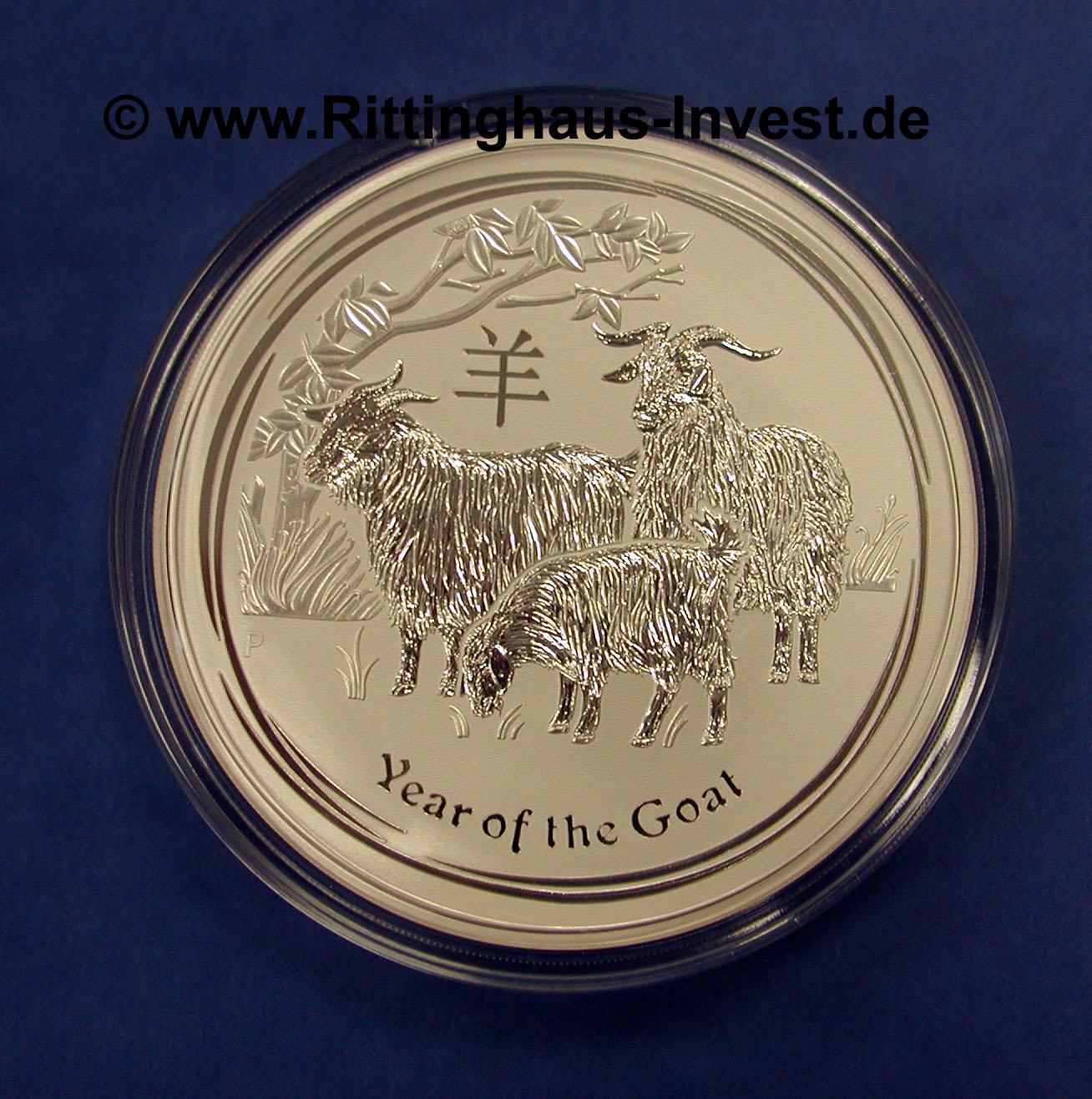 Lunar Ii Ziege 2015 Silberm 252 Nze 1 Kg Silber