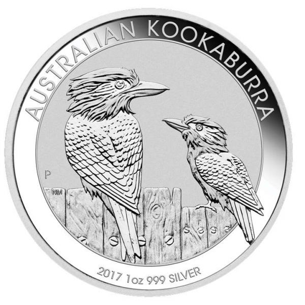 Australischer Kookaburra 2017 1 Unze Silber 1oz silbermünze the Perth Mint