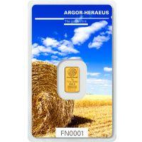 Following Nature Goldbarren 1g Argor Heraeus Sommer Edition