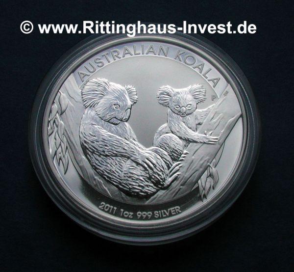 Silberm 252 Nze Koala 2011 1oz Unze 999 Silber Perth Mint