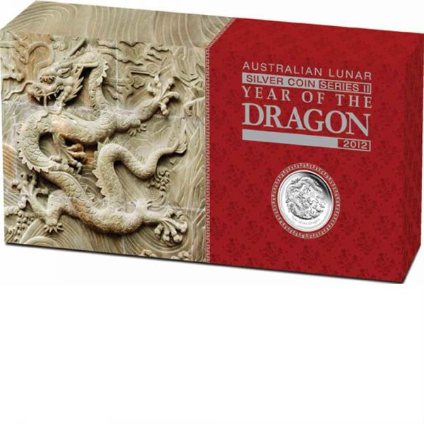 Lunar II Drache 3 Silbermünzen Set 3,5$ three-coin set year of the dragon the perth mint australia