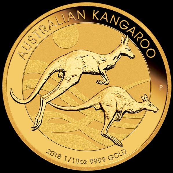 zentel Unze Gold Australisches Känguru Australian Kangaroo 2018 1/10Oz