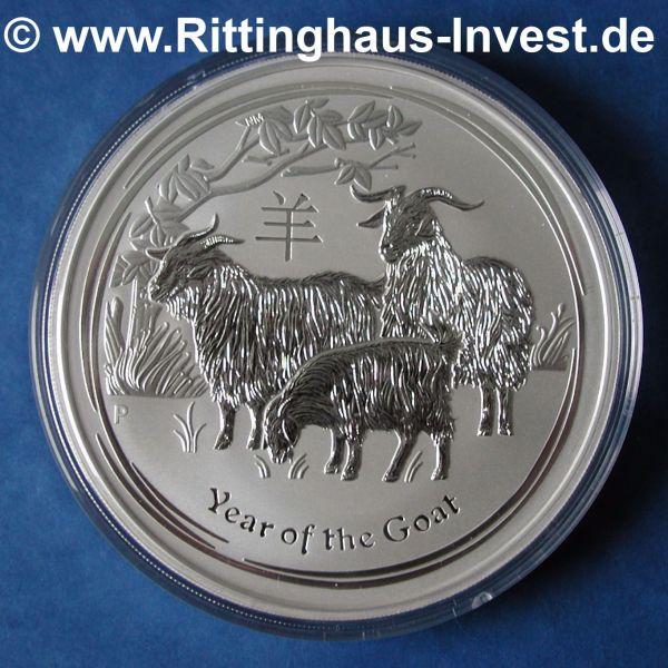 Lunar 2 Ziege Year of the goat 1kg 1Kilo silver silber silbermünze Jahr der Ziege 2015