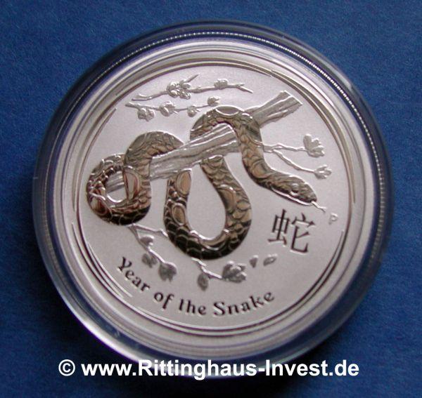 Silberm 252 Nze Lunar Ii Schlange 0 5oz Snake Silver Coin 2013