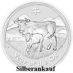 Silbermünze Ankauf Lunar II Jahr des Ochse 2009 1 Oz Silber Ankauf Ox