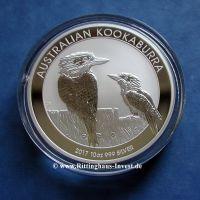 Australischer Kookaburra 10 Unzen Silbermünze 10Oz