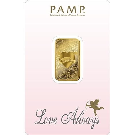 Pamp Suisse Love Always 5g Goldbarren gold bar Blister
