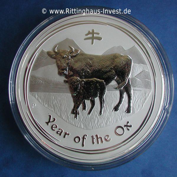 Lunar Ii Ochse 2009 Silberm 252 Nze 1 Kg Silber Kaufen