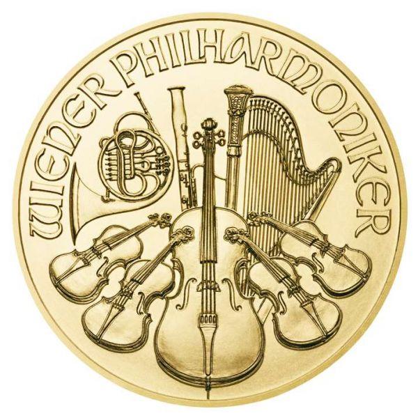 1/25 Unze Gold Wiener Philharmoniker 2018 Goldmünze