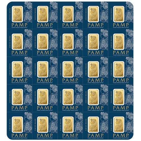Pamp Multigram+25 25 x 1g Goldbarren gold bars teilbar diversible