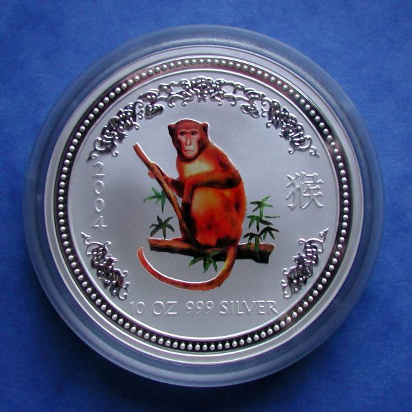 Lunar I Serie 2004 Affe 10 Oz coloriert monkey coloured