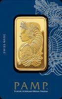 Pamp Fortuna Goldbarren Motiv Vorderseite front side gold bar