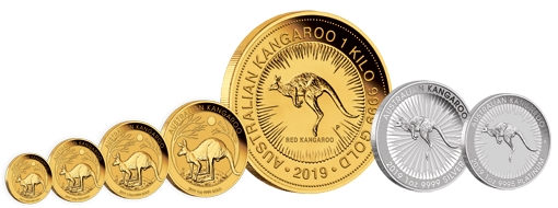 Australian-Kangaroo-2019-Gold-Kanguru-Perth-Mint-Platin-Platinum