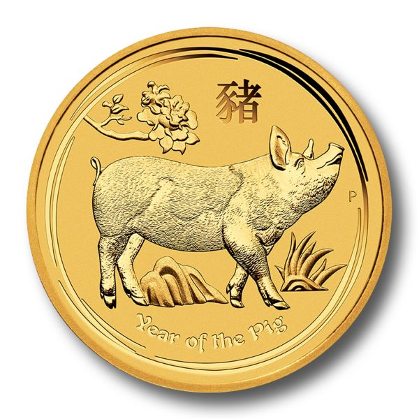 Lunar II Schwein 2019 Goldmünze Unze 1oz Perth Mint Pig Gold